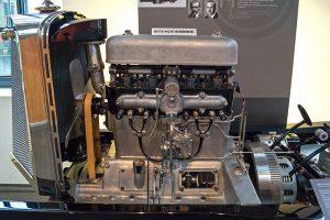 Audi-Motor im August Horch Museum Zwickau