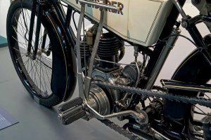 Wanderer Zweizylinder, Baujahr 1908, Detail Motor