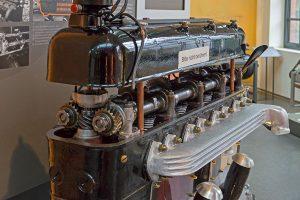 Horch Achtzylinder-Reihenmotor mit zwei oben liegenden Nockenwellen (DOHC), 1927/28