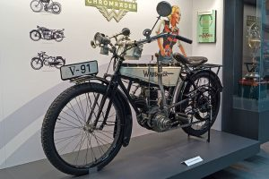 Das Wanderer-Motorrad von 1908 erreichte mit seinen nur 67 Kilo spielend die 70 km/h.
