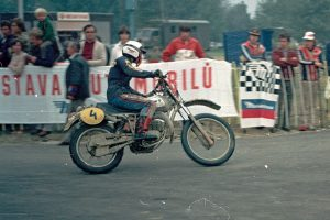 Simson Werksmaschine am Start der Six Days 1982 in Povazka Bystrica