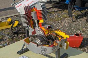 Motor MZ ES 150 mit Schlitzsteuerung und Umkehrspülung
