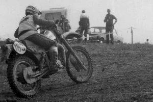 Frank Schubert auf der MZ GT 250 bei den Six Days in Povazska Bystrica, CSSR, 1982