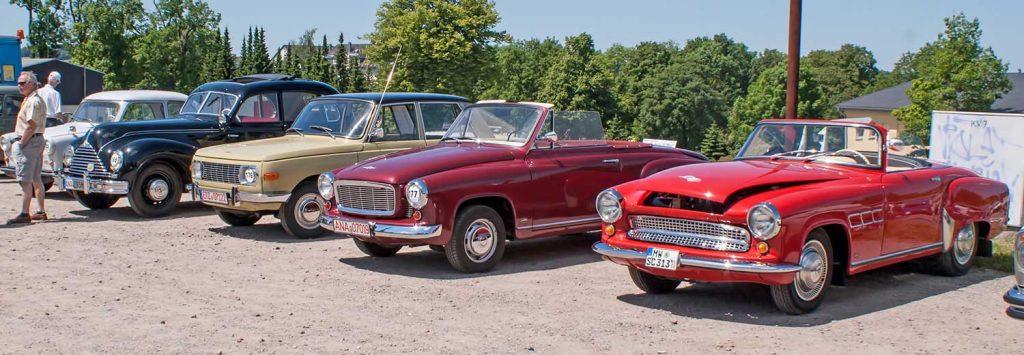 Drei Generationen Fahrzeuge aus Eisenach