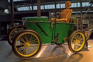 Elektromobil von Slaby & Behringer im Sächsischen Industriemuseum Chemnitz