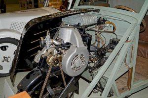 Framo Baujahr 1935, Detail Motor, im Museum für sächsische Fahrzeuge, Chemnitz