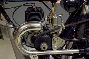 Motor DKW E 206, frühe Ausführung mit Riemenantrieb, Baujahr 1925