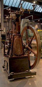 Stationärer Gasmotor im Sächsischen Industriemuseum Chemnitz