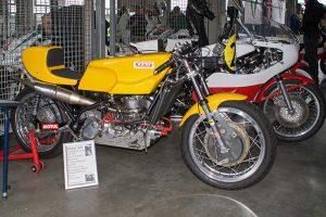 Replica der 500ccm Grand Prix Maschine der Fa. König von 1970 mit über 100 PS, Sachsenring, 2017
