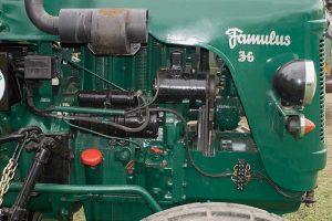 Famulus RS 14/36L Detail luftgekühlter Motorauf dem AGRA-Gelände Markkleeberg 2017
