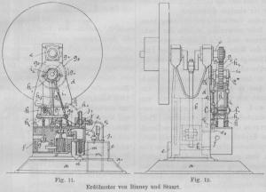 Glühkopfmotor nach dem Patent von Stuart 1890