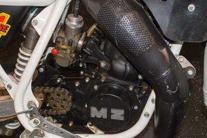 MZ GT 500 W Detail Motor mit Membraneinlass