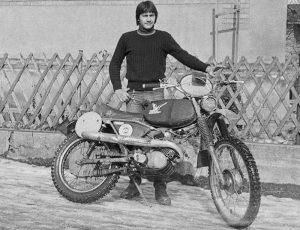 Ralf Stefanie/Simson GS 50 im Wintertrainingslager des MC Leipzig, 1978, Foto: D. Kleiner